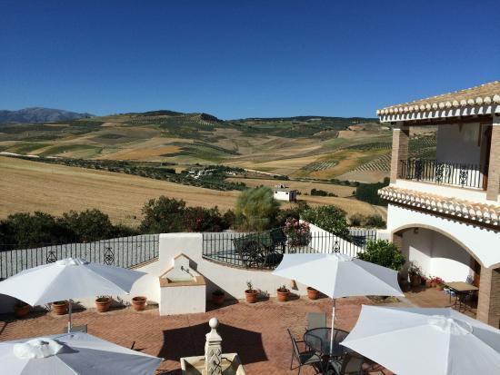 El Amparo: Courtyard and view