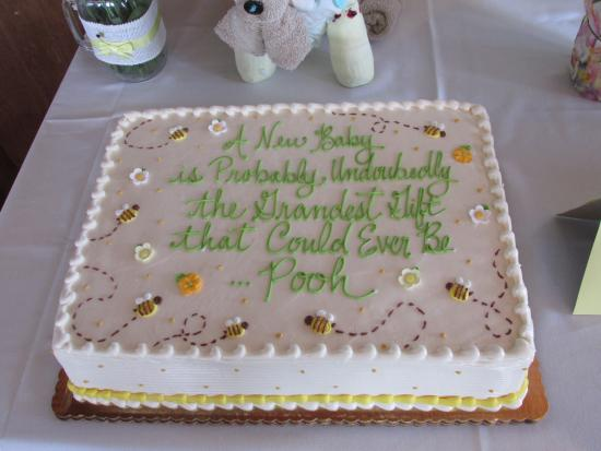 Remarkable Winnie The Pooh Quote Cake With Bees Picture Of Wrights Dairy Funny Birthday Cards Online Elaedamsfinfo