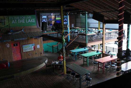 Paradise Tropical Restaurant & Bar : Lots of seating from above seating area looking down
