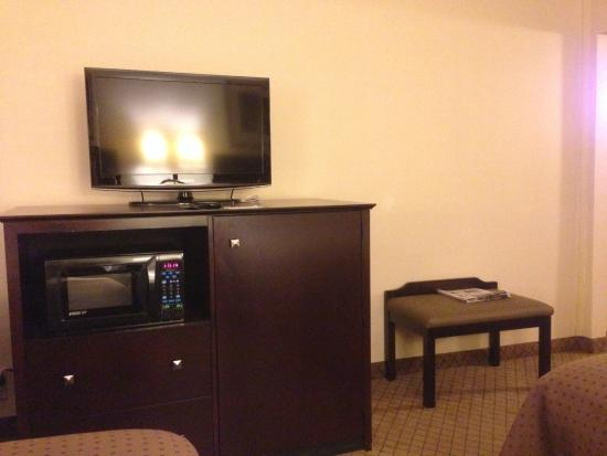 Holiday Inn Elmira Riverview : Entertainment center / luggage bench