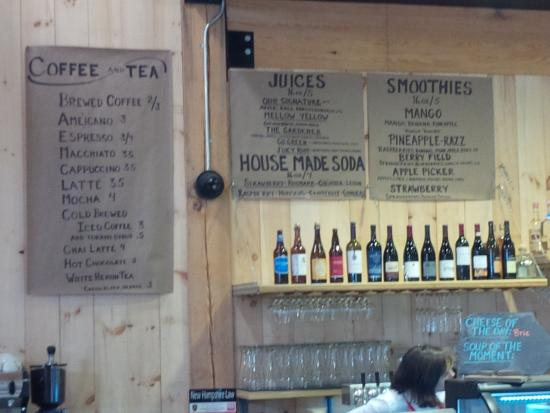 Applecrest Farm Bistro: drinks menu