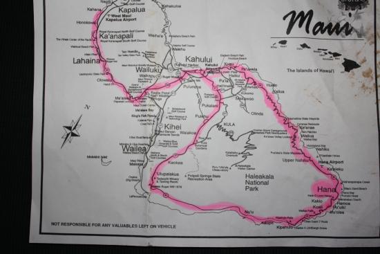 map of Road to Hana - Picture of Kahana Villa Resort, Lahaina ...