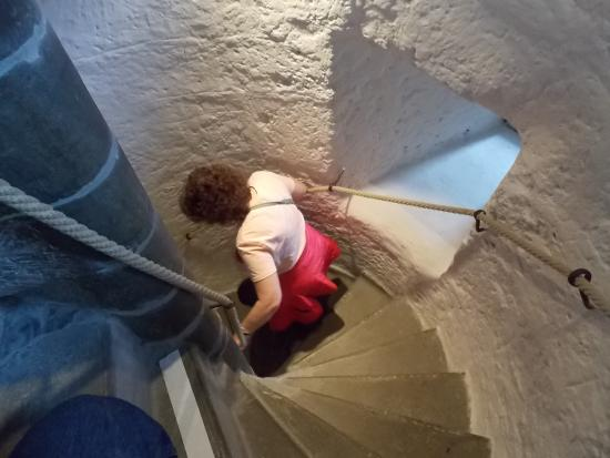 Schloss THUN: The top staircase- hang on to the ropes!