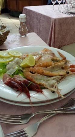Villa Icidia: Crudo di pesce ......ottimo