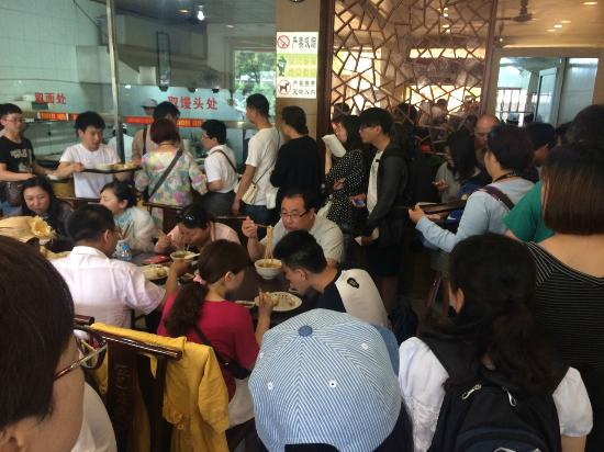 YaBa ShengJian: people lined up before us for lunch