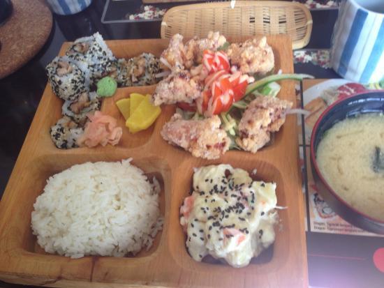 Bambuszliget - Japanese Restaurant and Sushi Bar: 唐揚げ弁当