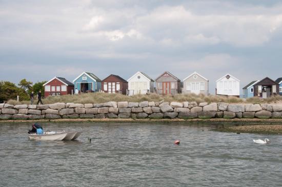Beach Huts Near Mudeford Quay