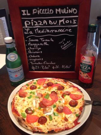 Il Piccolo Mulino : Pizza du mois de juin  La méditerranéenne