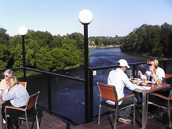 Stillwaters Plate and Pour: View from the top deck of the Grand River