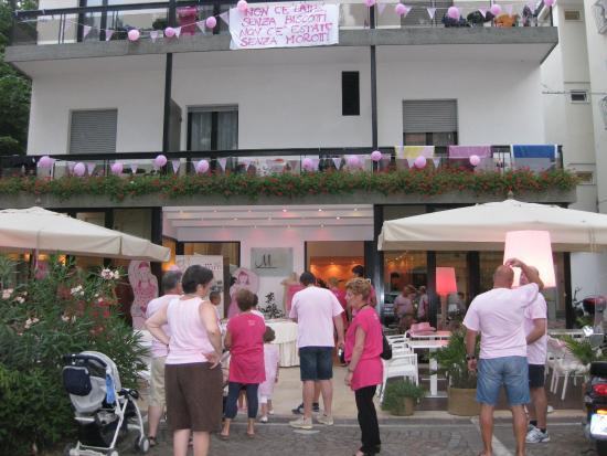 Hotel Morotti: Festeggiamento della Notte Rosa