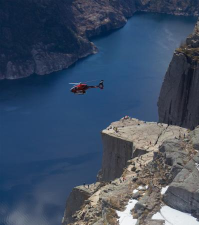 Sola Municipality, Norveç: Pulpit Rock scenic flight.