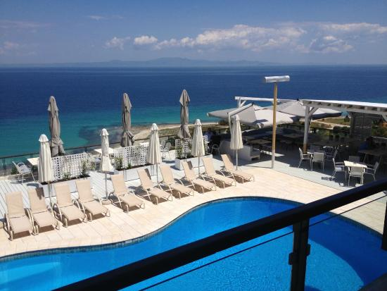 Rigas Boutique Hotel: Pool mit Aussicht