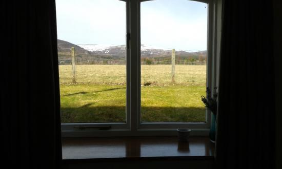 Ruthven House: View from Creag Dhubh Cottage Bedroom