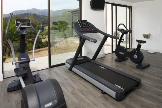 Hotel & Spa des Gorges du Verdon : salle fitness