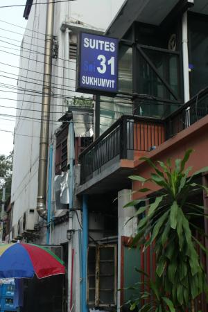 Suites 31 Sukhumvit: The sign infront of the hotel