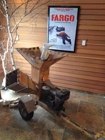 Fargo-Moorhead Visitors Center: This is a photo of a woodchipper that may have been used in a film