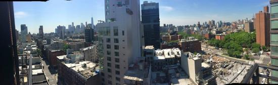 The Ludlow New York City: Panoramic view from our Queen Studio of Freedom Tower and Empire State Building!