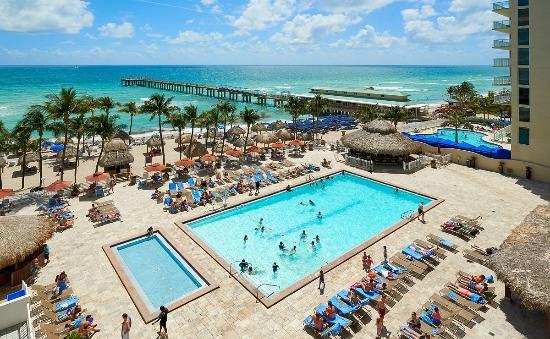 Newport Beachside Hotel And Resort Pool Deck Beach Area Pier