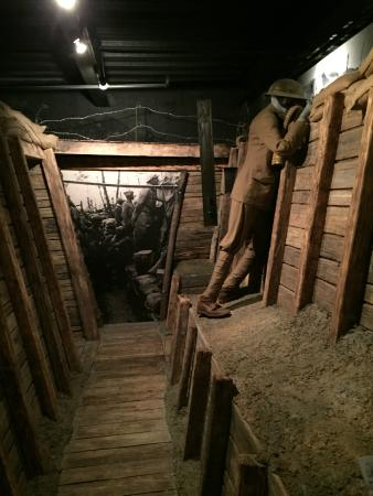wilson presidential library and museum ww1 bunker in basement exhibit