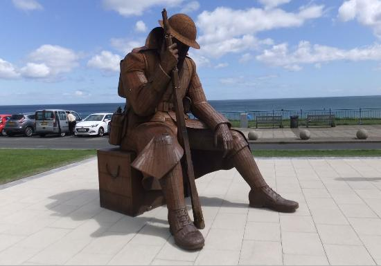 Tommy the soldier sculpture at Seaham Harbour