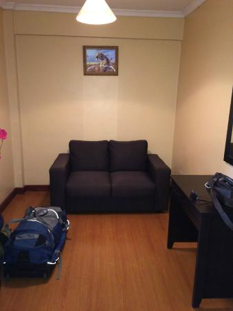 Progressive Park Hotel: Living area of apartment