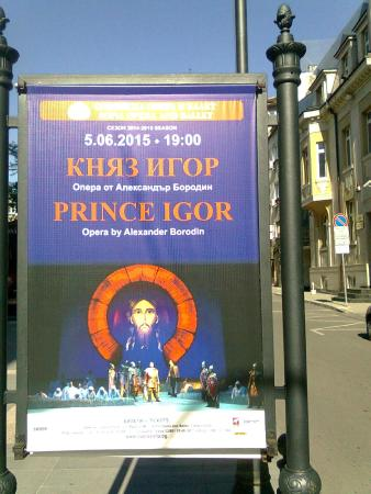 National Opera and Ballet: Poster in front of the Opera House