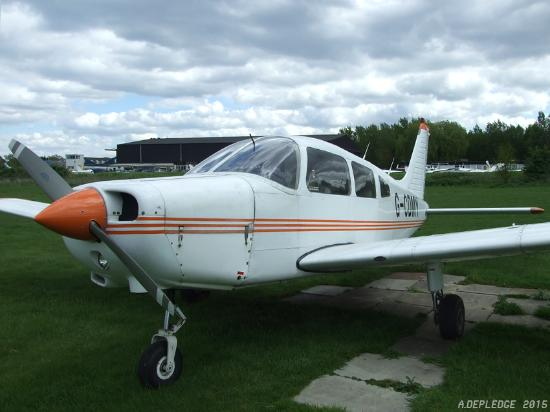 Borehamwood, UK: One of MAK Aviation's aircraft: a Piper Cherokee Warrior II