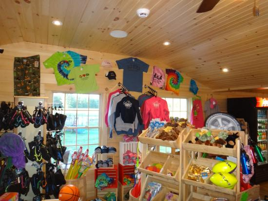 Saco River Camping Area: Camp Store Walls