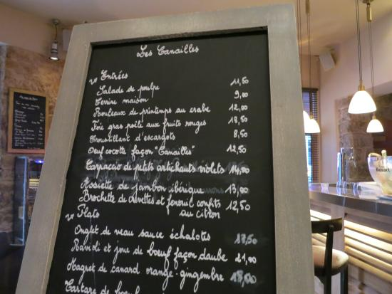 Bistro Les Canailles: Offered meals