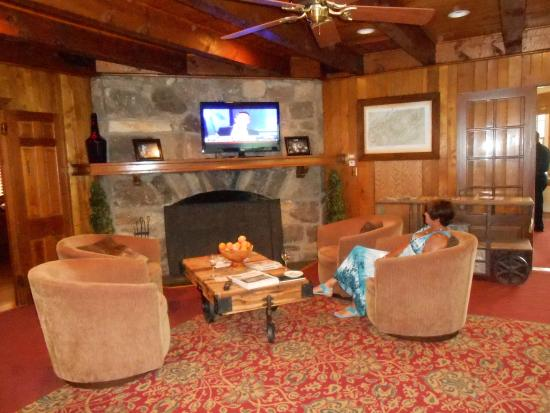 Lake Lure, Βόρεια Καρολίνα: The lounge area in the lodge was very rustic & cozy!