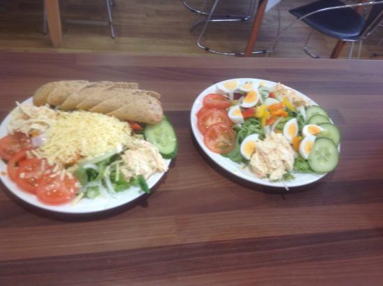 Tin Pot Pasty Co: Cheddar cheese salad and egg salad