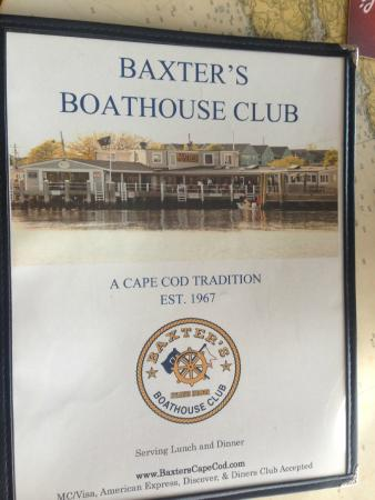 Baxter's Fish-N-Chips: Baxter's Boathouse Club sign