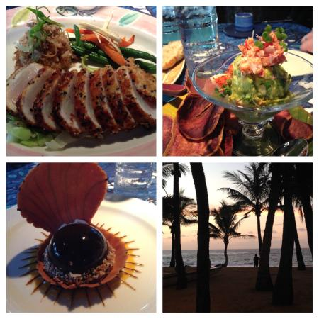 Paia, Hawái: collage of our dinner and the view!