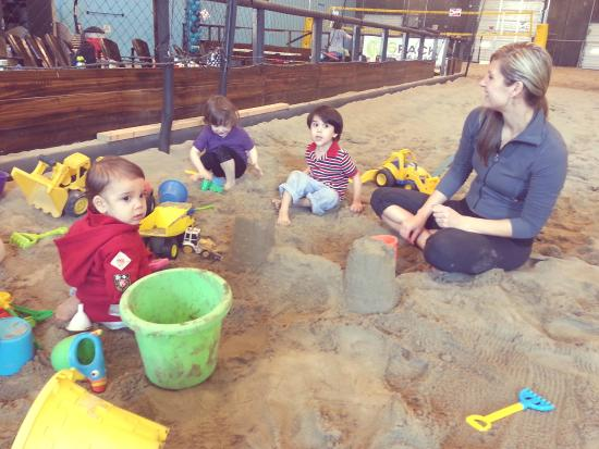 6Pack Indoor Beach Centre : Kids can come and dig in the sand!