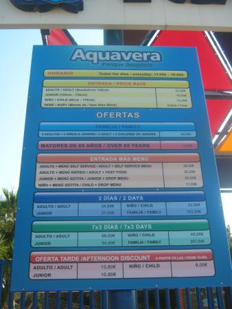 Vera, España: Entrance fees