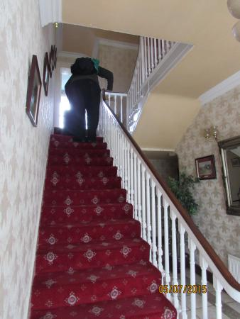 Cloncarlin House B&B: stair case to bedrooms
