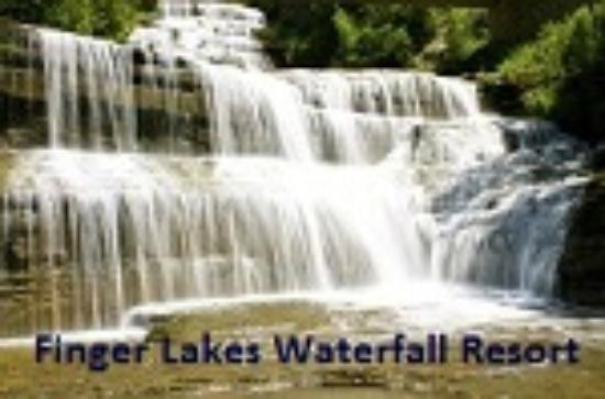 Finger Lakes Waterfall Resort: Waterfall