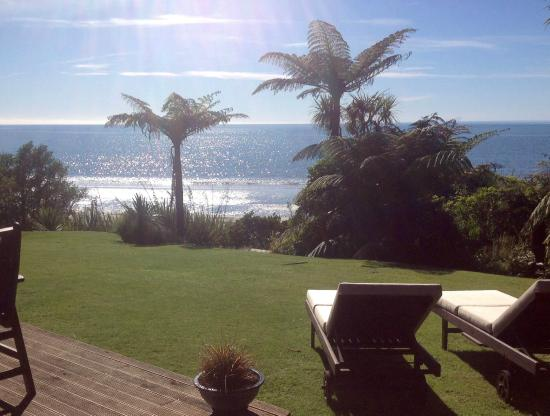 Adrift in Golden Bay: View of the sea from The Studio deck