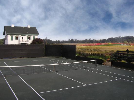 Flora Vista Inn: Two tournament quality clay courts.