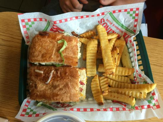 Mancino's Grinders & Pizzas : Grinder and Fries