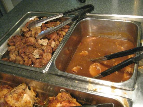 Cumberland Mountain State Park: Chicken Livers & Pork with pan gravy