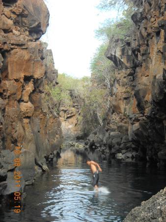 Las Grietas: Backward into the water at Las Greitas