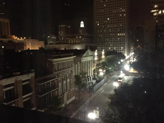 The Lafayette Hotel: The view from room 603 at night.
