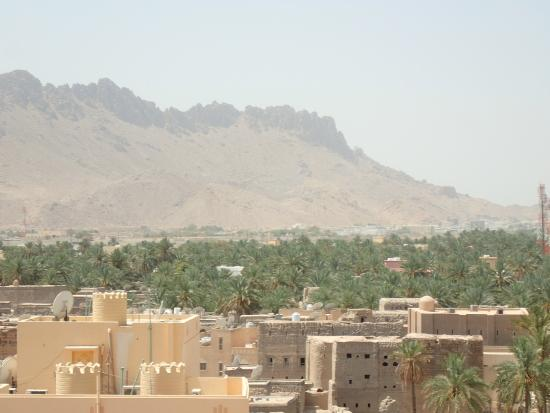 Nizwa, Oman: View from the top of the fort
