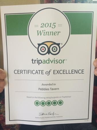 Pebbles Tavern: Proud to get this x