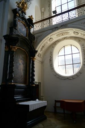 Schlosskirche Friedrichshafen: One of the interiors to the church.