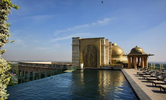 The Leela Palace New Delhi: Roof top Swimming Pool