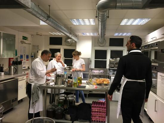 Cookery School at Little Portland Street: Back area of the kitchen