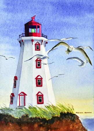 Heather Hannon Island Art Studio: Pander Island Lighthouse