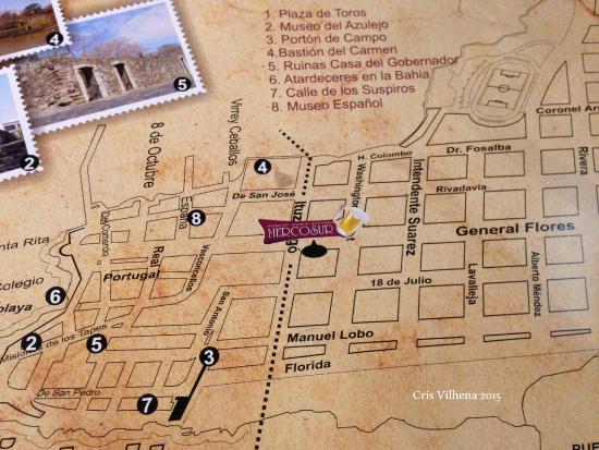 Mapa Dos Arredores Picture Of Posada Boutique Las Terrazas